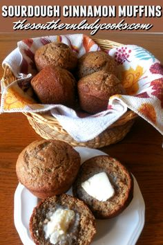 Sourdough cinnamon muffins are a great way to use up your discarded sourdough starter. These muffins are easy and delicious. Dough Starter Recipe, Sourdough Starter Discard Recipe, Sourdough Recipes, Starter Recipes, Sourdough Cinnamon Bread Recipe, Sour Dough Starter, Sourdough Biscuits, Muffin Recipes, Baking Recipes