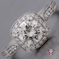 Art Deco Engagement Ring - Certified 1.10ct H/SI Diamond