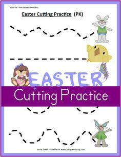 These Printable Easter Worksheets: Preschool Cutting Practice, will help your preschool and kindergarten children work on improving their scissor skills and fine motor skills.  Ovals, wavy lines, and more with an adorable Easter theme!