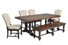 Arlo 6 Piece Upholstered Dining Set