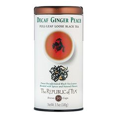The Republic Of Tea Decaf Ginger Peach Black Full-Leaf Tea, 3.5 Ounces / 50-60 Cups *** Check this awesome product by going to the link at the image.