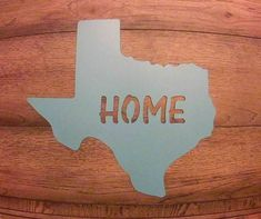 Texas HOME Sign Home sign Texas Sign Housewarming Pick
