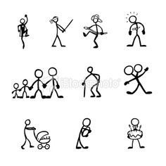Stickfigures Activities Royalty Free Stock Vector Art Illustration