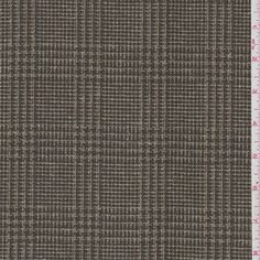 Brown/Rust Check Suiting - 25737 - Fabric By The Yard At Discount Prices