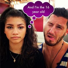 "Fun Photo Of Zendaya And Val Chmerkovskiy From ""Dancing With The Stars"" May 17, 2013"
