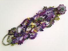 Free form beadwork bracelet | Carol BEal | Flickr