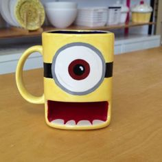 Minion MUG! Hide cookies in his mouth.