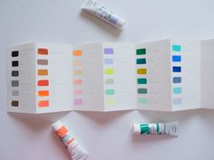 holbien acryla gouache (japanese) - carries a bunch of gorgeous pastel/pale/muted colors.  More selection than windsor newton. No need to self mix