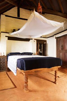 With Its Carved Wooden Beds Handwoven Bed Covers And Simple But Honest Furnishings Guestrooms