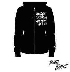 Question Everything Zip-Up Hoodie [ Women ]