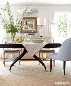 Barbara Barry | classic modern dining room