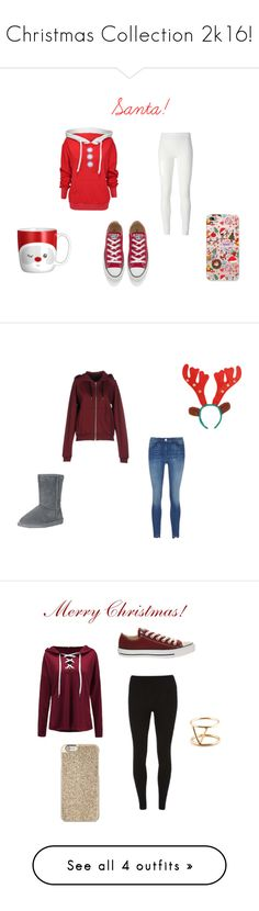 """""""Christmas Collection 2k16!"""" by sam-sam-04 on Polyvore featuring Wildfox, Rick Owens Lilies, Converse, American Retro, Bearpaw, Dorothy Perkins, Michael Kors, SOKO, WithChic and River Island"""