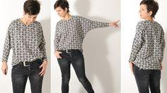 BAT shirt • Nähanleitung + Schnittmuster • Damen • DIY • leni pepunkt • sewing pattern easy • dolman sleeve • Fledermausärmel • ebook