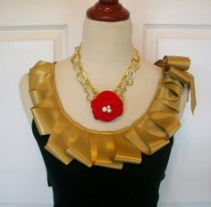 Embellished Tank Top in Black with Gold Ruffles by RaspberryMarket, $40.00
