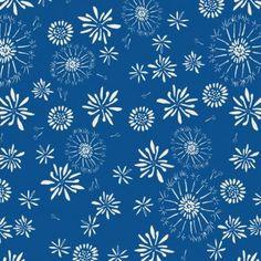 Organic Cotton -Rain Walk- Blue- Cloud 9 Fabrics - 1 yd