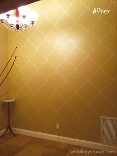 While They Snooze: DIY Moroccan-Style Wall Stencil Tutorial