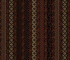 african_stripes earthen fabric by glimmericks on Spoonflower - custom fabric