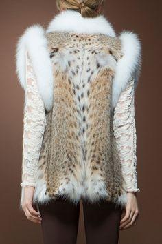 American Lynx and Fox Fur Vest