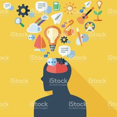 The vector file of brain concept Free Vector Art, Vector File, Image Now, Royalty, Concept, Disney Characters, Illustration, Inspiration, Royals