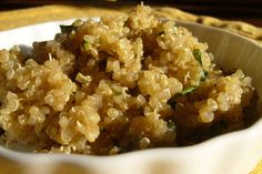 Quinoa pearls.  Great texture, couscous like only more crunch.  Most protein ~ use it in salads, soups, side dish etc.
