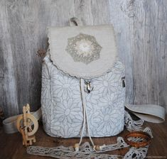"Linen backpack ""Daisies"" – shop online on Livemaster with shipping - FZJ41COM 