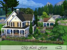 My Little Farm is a charming place perfect for a professional gardener built on 40x30 lot in Granite Falls. Found in TSR Category 'Sims 4 Residential Lots'