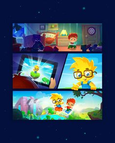 Beautiful game art. Educational game for kids. iOS app for kids. Professional game graphics. Intro movie. GUI. Numbie