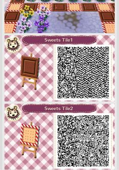 A cute sweets path that is a piece of chocolate and a graham cracker! (remember I did not make this design)