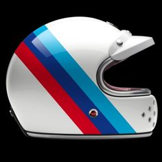 """Les Ateliers Ruby are celebrating the anniversary of BMW Motorrad by launching a new range of 5 luxury motorcycle helmets as part of the """"Munich 90 Collection"""". Retro Helmet, Vintage Helmet, Vintage Racing, Ruby Helmets, Racing Helmets, Custom Helmets, Custom Bikes, Bmw Helmet, Bmx"""
