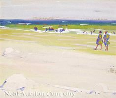 """Jane Peterson (American, 1876-1965), """"Beach at Gloucester"""", 1915 - student"""