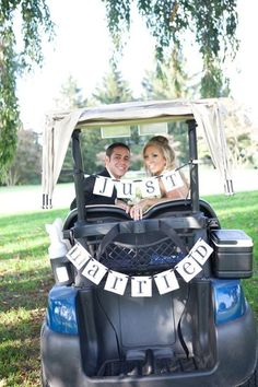 cute for the back of a golf cart at a country club wedding