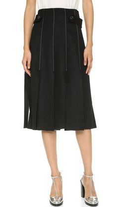 SUNO Double Faced Panel Skirt