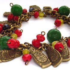 Charm bracelet Russian doll matryoshka babushka