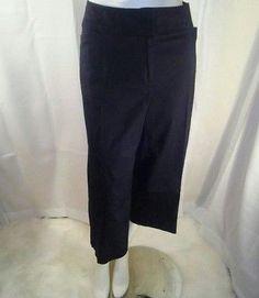 5c1db5cf28b Bandolino Women s Black Plus Sized Capri Pants Size 16