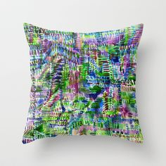 Torrential Jungle Throw Pillow + free shipping worldwide till Sunday (when ordered with no insert) #amysia