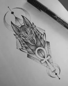 Egypt Tattoo Design, Clock Tattoo Design, Geometric Tattoo Design, Wolf Tattoo Design, Geometric Tattoos Men, Best Leg Tattoos, Leg Tattoo Men, Body Art Tattoos, Sleeve Tattoos