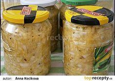 Cuketové zelí,zavařené na zimu i jiné roční období Anna, Homemade Pickles, Home Canning, Chutney, Preserves, Cucumber, Food To Make, Smoothie, Frozen