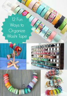 12 brilliant ways to organize your washi tape #MabelOrganization