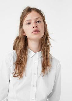 Popelinowa koszula - Koszule dla Kobieta   MANGO Polska