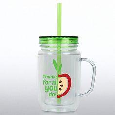 Thanks For All You Do: Apple Mason Jar Tumbler