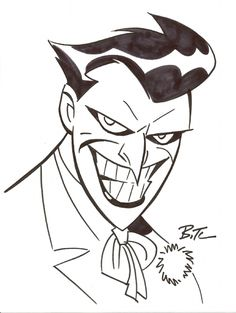 The Joker by Bruce Timm Comic Art Bruce Timm, Im Batman, Batman Art, Gotham Batman, Batman Robin, Character Drawing, Comic Character, Comic Books Art, Comic Art