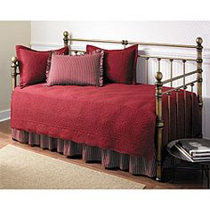 Trellis Scarlet 5-piece Day Bed Set | Overstock™ Shopping - The Best Prices on Daybed Covers