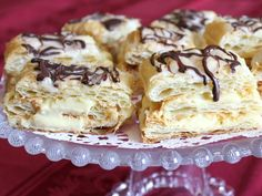 Vanilla Napoleons.  Sub sour cream with tofutti or coconut cream.  Pudding mix with starch/vanilla/sugar.
