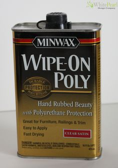 Wipe on Poly water based for chalk paint