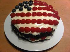 U.S. flag berry cake
