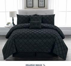 10 Piece Queen Melia Black Bed in a Bag Set  $125 w/600 TC sheets