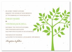 Shop plantable wedding invitations for your green wedding, you can plant into wildflowers. Our seed paper wedding invitations will amaze your guests! An handmade wedding invitations, blooming in beautiful flowers. It's the best green wedding invitations. Tree Wedding Invitations, Bar Mitzvah Invitations, Invites, Wedding Favors, Gala Invitation, Invitation Ideas, Tree Bar, Seed Paper, Wedding Paper