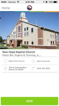 New Hope Baptist Church in Denver, Colorado #GivelifyChurches