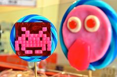 Space invader lollipop #80s #retro