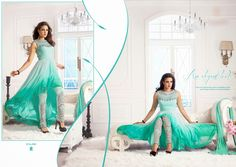 Georgette and Net Designer Dress Materials with Heavy Silk bottom and Pure Nazneen Dupatta. (CATALOG - 238)